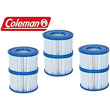 New Coleman Lay-Z Spa Replacement Filter Cartridges - Pack of 6 - Item # 90352