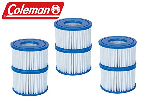 (New Coleman Lay-Z Spa Replacement Filter Cartridges - Pack of 6 - Item # 90352)