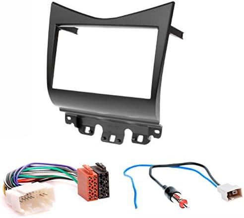 /Mascherina autoradio 2/DIN Car 2/DIN In dash Installation Kit Set For Honda Accord 2002/ CARAV 11/ /061/ Black /12/ /2007/ + ISO and Antenna Adapter Cable