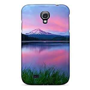 Durable Defender Case For Galaxy S4 Tpu Cover(lake Water Table Grass Distance Mountains)