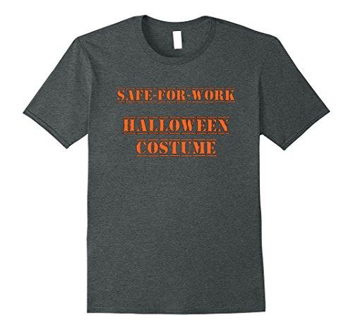 Mens Safe For Work Halloween Costume T-Shirt 3XL Dark Heather