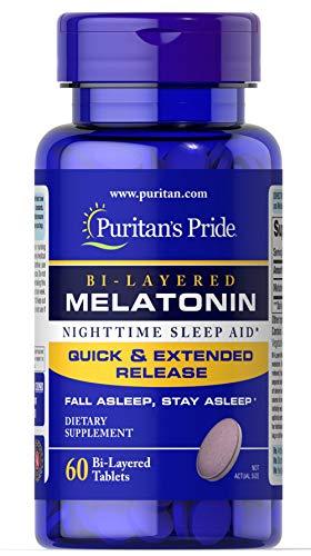 Puritan's Pride Bi-Layered Melatonin 5 mg -60 Tablets ()