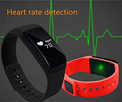 D.F.Dream Waterproof Heart rate monitor Smart Watch Fitness Tracker Sleep Monitor Pedometer Smart Bracelet Wristband Sport Bluetooth Health Smartband for Men and Women