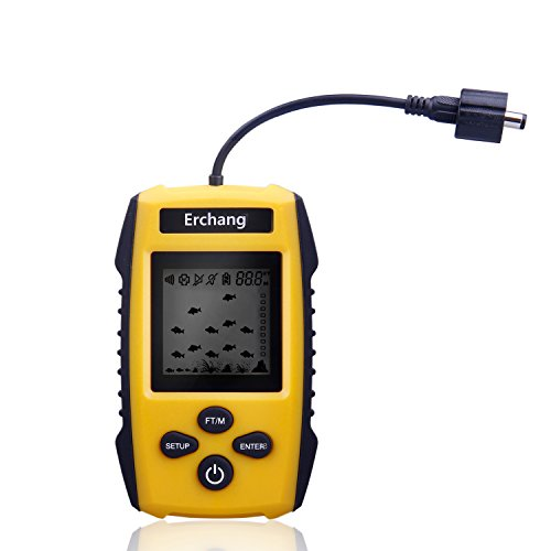 Erchang Portable Fishfinder Transducer Display