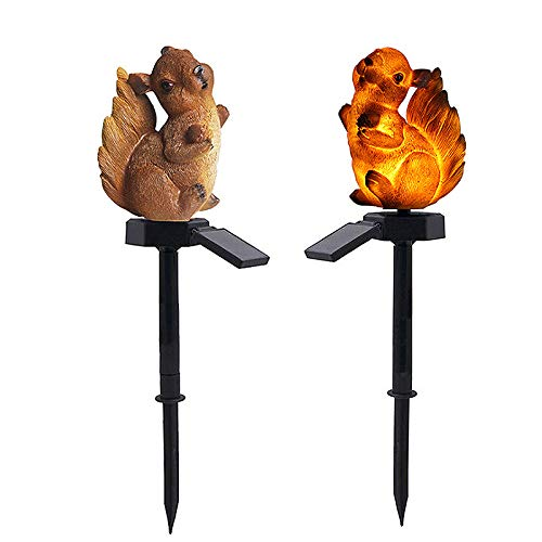 SANGDA Solar Stake Lights Outdoor,Solar Power Lawn Lamp Squirrel Garden Lights Decor Light Patio Lights LED Garden Figurines Outdoor Solar Decor Garden Art Squirrel Ornaments for Landscape(1 Pcs)