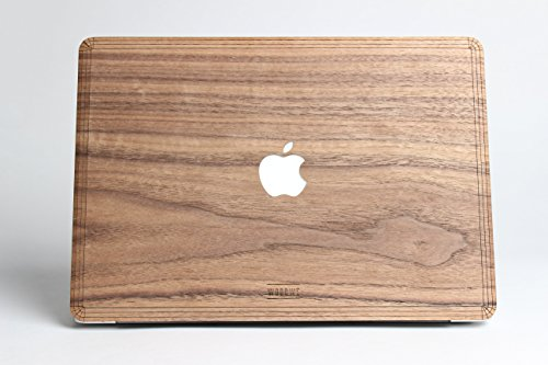 WOODWE Real Wood MacBook Skin Sticker Decal for Mac pro 13 inch Non Retina Display | with CD Drive; Model: A1278; Mid 2009 – Mid 2012 | Genuine & Natural Walnut Wood | TOP&Bottom Cover by WOODWE