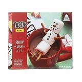 Tasty Snowman Hot Cocoa Activity Kit | Includes Recipe Book, Hot Cocoa Mix, Large Marshmallows, Pretzel Sticks & Black Icing Pen