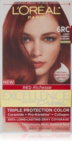 L'Oréal Excellence Richesse Couleur des cheveux, 6RC Cerisier clair Auburn