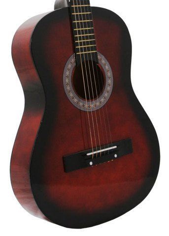 "38"" Inch Student Beginner Coffee Acoustic Guitar with Carryi"