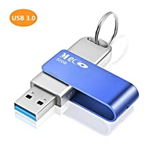 MECO 32GB USB 3.0 Flash Drive USB Stick with Keychain MetalFoldable Memory Stick for Computers Laptops PC Blue