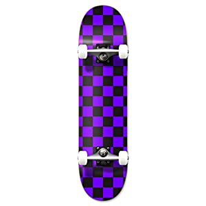 Yocaher Blank and Checker Pro Complete Skateboard 7.75″ Skateboards –