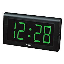 Elong Led Digital Desk Clocks Wall Decorative Extra Large 4 Green LED Numbers Display,Only time function