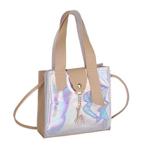 Fashion Transparent Femme Women Fashion Deer Accessories Solid Hasp Crossbody Shoulder Color Crossbody Bag,Khaki
