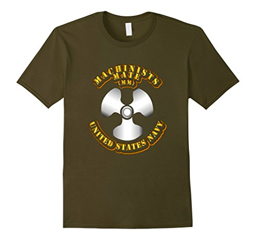 Machinists Mate - Mens Navy - Rate - Machinists Mate Tshirt 3XL Olive