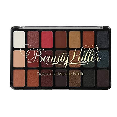 Flash Powder Eye Shadow Set Eye Shadow PaletteProfessional Pearl Matte Cosmetic Shimmer 21 Colors ()