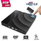 External CD DVD Drive, Tintec USB 3.0 CD DVD +/-RW Rewriter Burner...