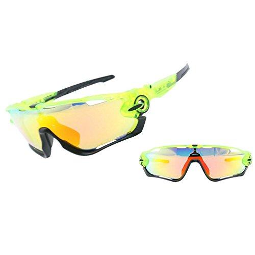 Su gafas luoyu parabrisas sol Montar libre aire Negro gafas polarizadas de Verde anti cuatro juegos UV de al gafas gafas deportivas rr7qwd1