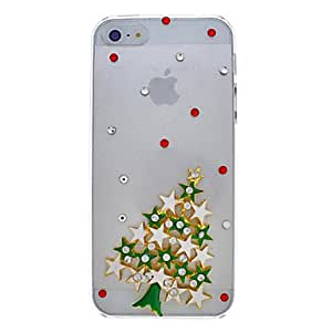 Buy Star Christmas Tree Alloy Ornament Transparent Back Case for iPhone 5/5S