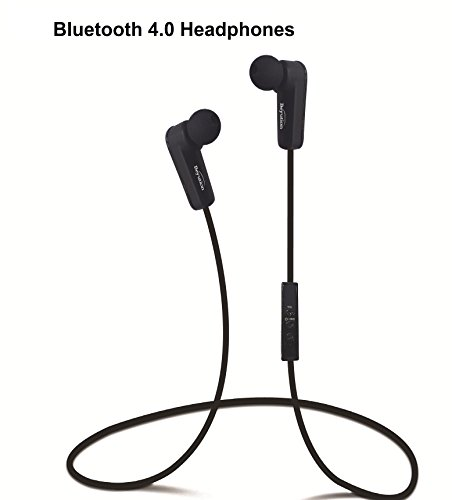 New Black/red/White/Blue/Yellow/Pink More Color Bluetooth Headphones -Bluetooth V4.0 Version -Wireless-Hi-Fi Stereo- Built in Mic-Phone with Retail Package (508-Black)