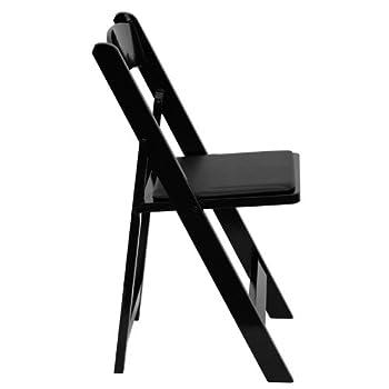 HERCULES Series Black Wood Folding Chair - Padded Vinyl Seat [XF-2902-BK-WOOD-GG]