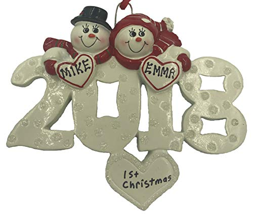 Name Ornament Personalized (Personalized Couple Ornament 2018 -Free Personalization)