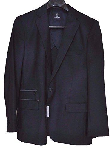 HART SCHAFFNER MARX men's Wool Blazer JACKET Two Button Front Navy LARGE $295