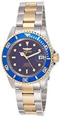 Invicta, Pro Diver, Men's Watch, Stainless Steel and Yellow Gold Plated Case, Stainless Steel and Yellow Gold Plated Bracelet, Mechanical Automatic (Self-Winding), 8928CClassic styling and high performance add up to an outstanding sport watch...