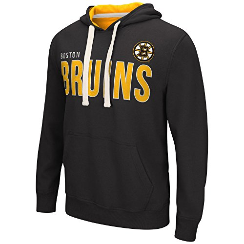 Fleece Boston Bruins Pullover - NHL Boston Bruins Men's All Star Fleece Pullover Hooded Top, Black, Large