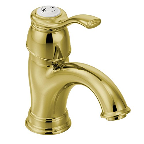 Moen 6102P Kingsley One-Handle Low Arc Bathroom Faucet, Polished Brass