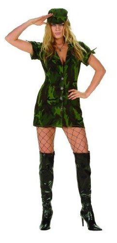 Military Girl Adult Halloween Costume Size Medium -