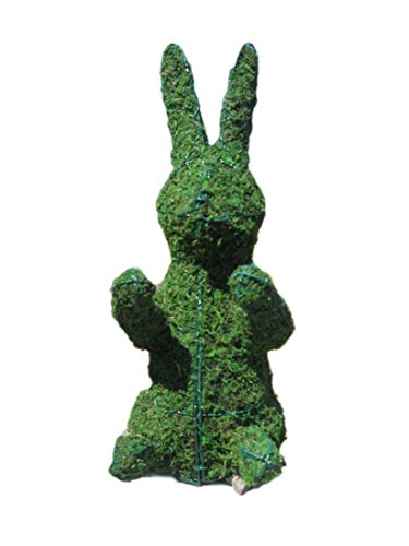 Bunny 28 inches high w/ Moss Topiary Frame , Handmade Animal Decoration