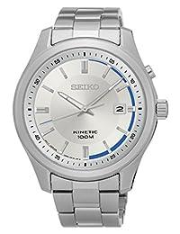 Seiko Men's SKA717 Stainless Steel Kinetic Dress Wrist Watch