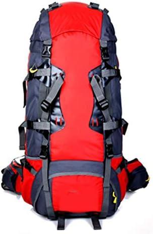 バックパック 登山バッグ、 80L ナイロン 防水材、 屋外ロッククライミング/旅行する、ユニセックス,red