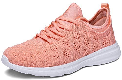 JOOMRA Women Running Shoes Tennis Fashion Gym Pink Ladies Lightweight Casual Jogging Walking Sport Athletic Sneakers Size 8 (Best Gym For Women)