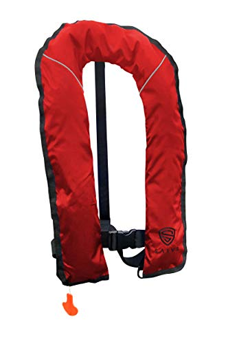 Inflatable Pfd Life Jacket - SALVS Automatic Inflatable Life Jacket for Adults | PFD for Fishing, Kayaking, Sailing | Life Vest for Men & Women | Red