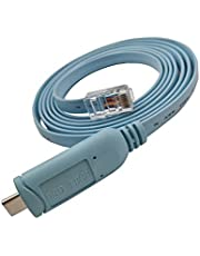 DSD TECH SH-RJ45B USB C to RJ45 Console Cable with FTDI Chip for Cisco NETGEAR Routers/Switches Support MacBook Pro/Air 2018 and Other USB-C Laptops