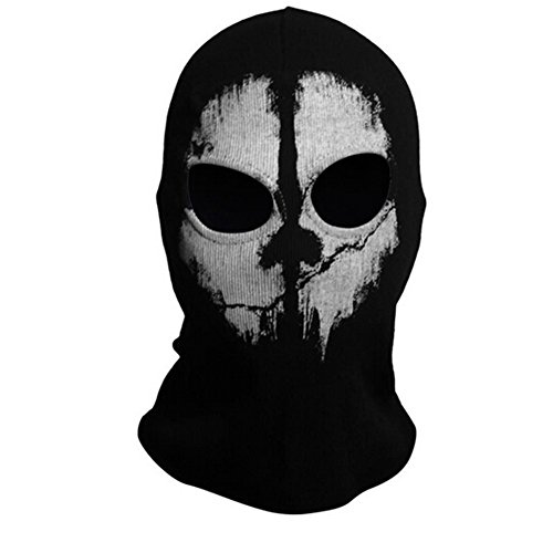 Onairmall Call of Duty 10 COD Ghost Hoods Skull Skeleton Head Mask Hood Biker-5-Halloween Christmas Gifts ()