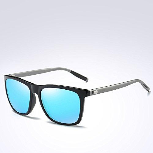 polarizadas POLAROID400 de Gafas Sol C4 Gafas de Solo Volver TL Unisex UV387 FSKA387 Lentes C4 Gafas Mujer Sol Hombre FSKA Aluminio Vintage de Blue Sunglasses para Azul wqCxUv0H