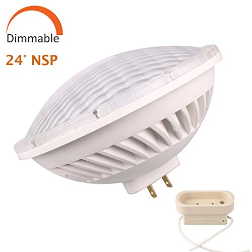 Par56 LED Bulb Dimmable 26W Warm White Spot Light (2700-3000K) NSP 24-30°Beam Angle GX16D Base, Replace Par-56 300W Halogen (Par 56 Light)