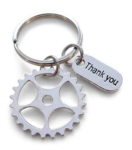 Gear Keychain Appreciation Gift - Thanks for Being an Essential Part of Our Team -