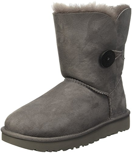 UGG Women's Bailey Button II Winter Boot, Grey, 8 B US
