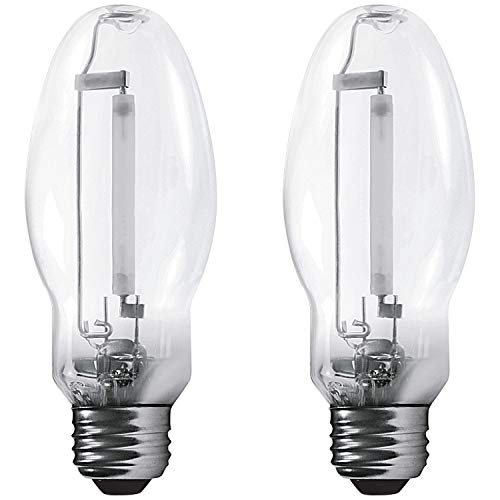 Ed23.5 Light Bulb - Luxrite LR20710 (2-Pack) LU100/ED23.5 100-Watt HID High Pressure Sodium Light Bulb, Warm White 2100K, 9500 Lumens, E39 mogul base