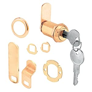 Prime-Line Products U 9946 Drawer and Cabinet Lock, Brass