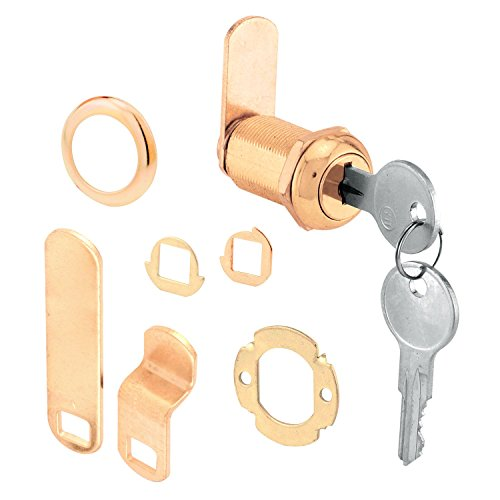 PRIME LINE PRODUCTS 1-1/8-Inch Brass Drawer/ Cabinet Lock