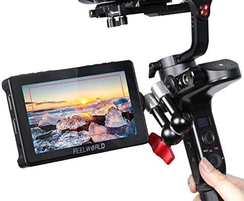 FEELWORLD F5 Pro V2 5.5 Inch Touch Screen DSLR Camera Field Monitor 3D LUT 4K HDMI Wireless transmission LED Light