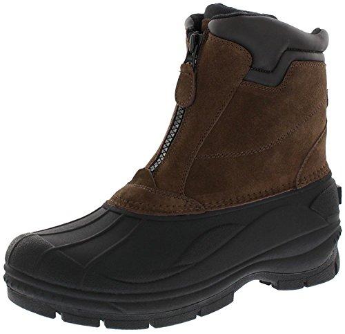 Woodstock Men's Brock Zip Up Waterproof Comfortable Extra Warmth Winter-Ready Leather Boot Brown Size - 11