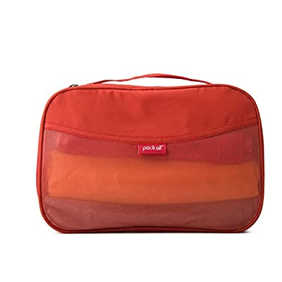 free shipping Beverly Stewart Clean/Dirty Packing Cube Waterproof Luggage Packing Organizers Travel Accessories Bag Of Unisex M/L Orange M