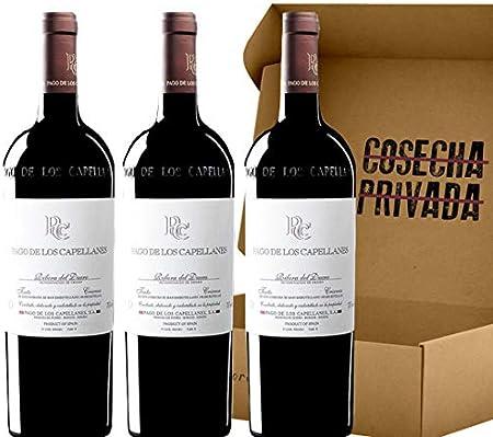 Pago de los Capellanes Crianza - Pack 3 botellas - Ribera del Duero - Seleccionado por Cosecha Privada - Añada puede variar - Estuche regalo