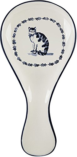Vintage Farm Cat Spoon Rest, 9.75'' by Molly Hatch
