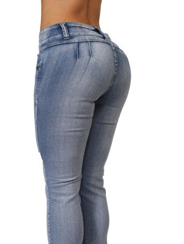 Butt Lift Colombian Style Skinny Leg Jeans By Crocker CR-M636LBLU (5) by Diamante (Image #2)
